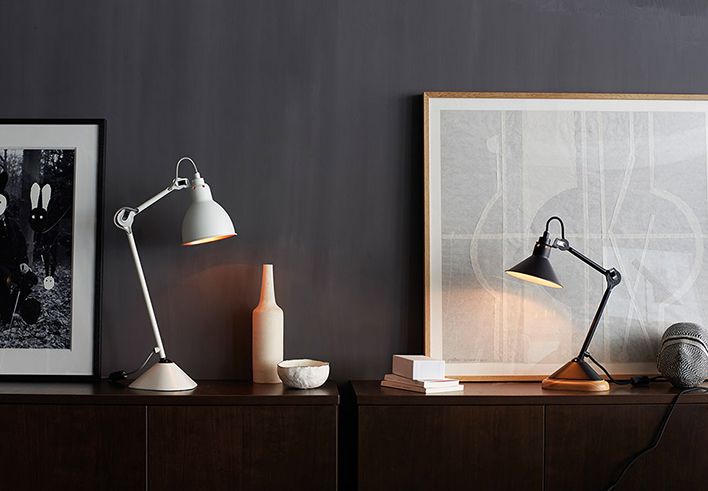 Lampe Gras | N�205 + N�207 table lamps