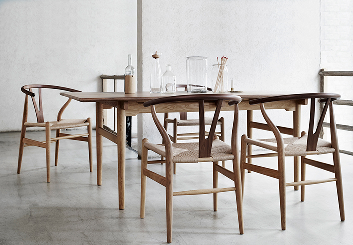 CARL HANSEN & SON | CH24 Y-chair & CH327 table